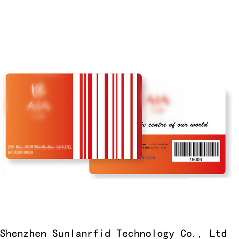 Sunlanrfid loyalty clothing stores with reward cards manufacturers for transportation
