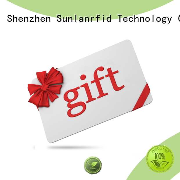 Sunlanrfid gift shop loyalty cards supplier for shopping Center