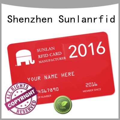 Sunlanrfid smart reloadable prepaid credit cards mifare for parking