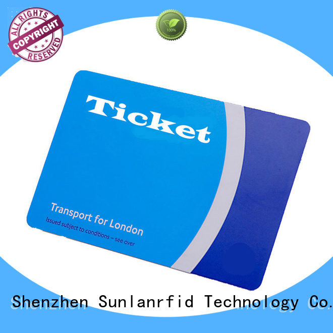pvc smart card for railway ticket wholesale for access control Sunlanrfid