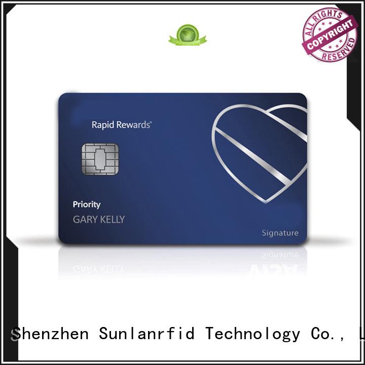 Sunlanrfid desfire prepaid credit card production for access control