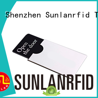Sunlanrfid mifare room key card production for daily life