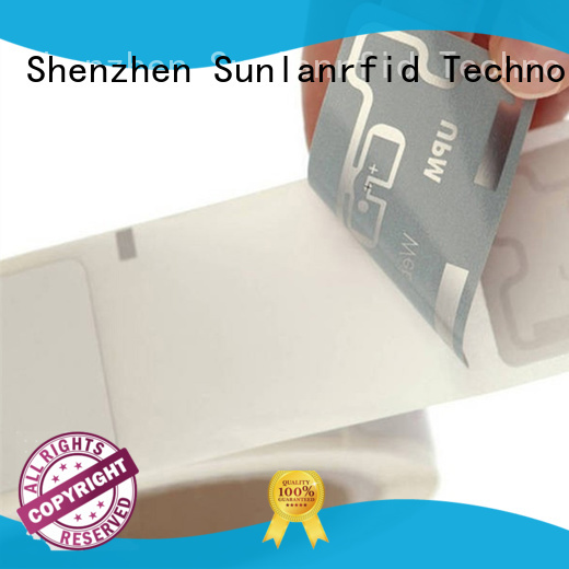 Sunlanrfid product inlay stickers tag for retail management