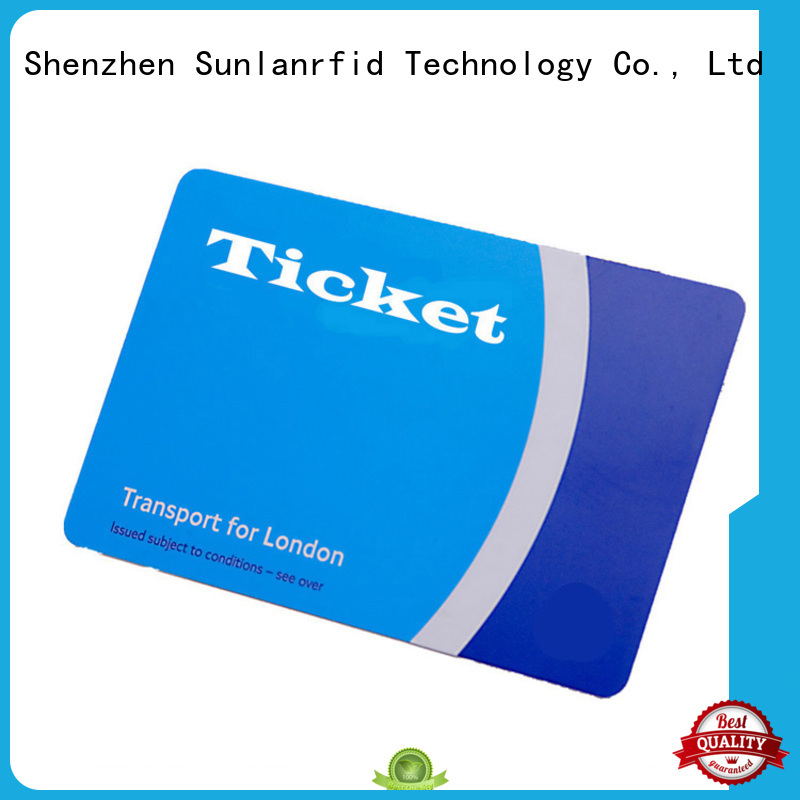 PVC or PET Thin Ticket Card with ICODE SLIX