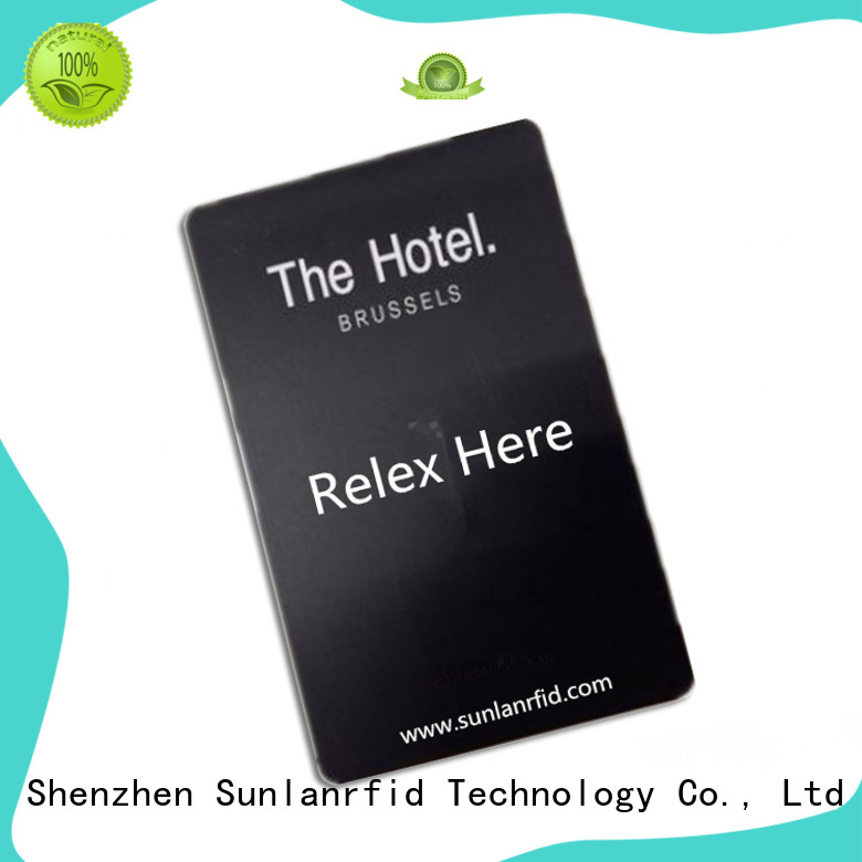 Sunlanrfid classic hotel key card template wholesale for hotel