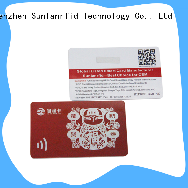 Sunlanrfid quality plastic customer loyalty cards manufacturer for time and attendance