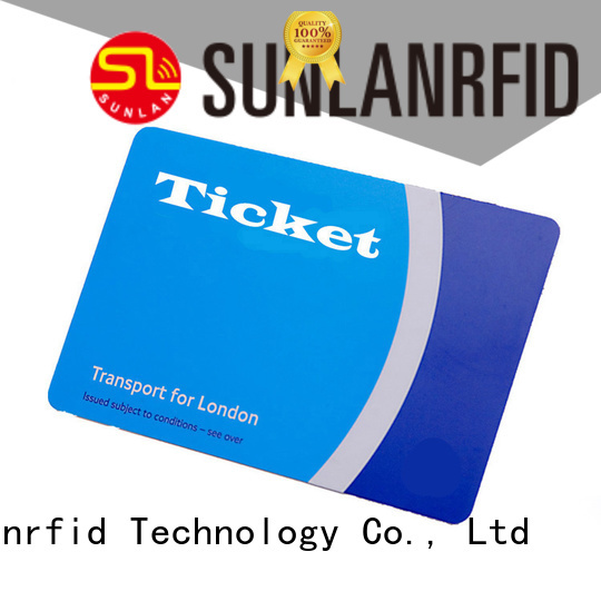 Sunlanrfid chip ticket smart card series for time and attendance