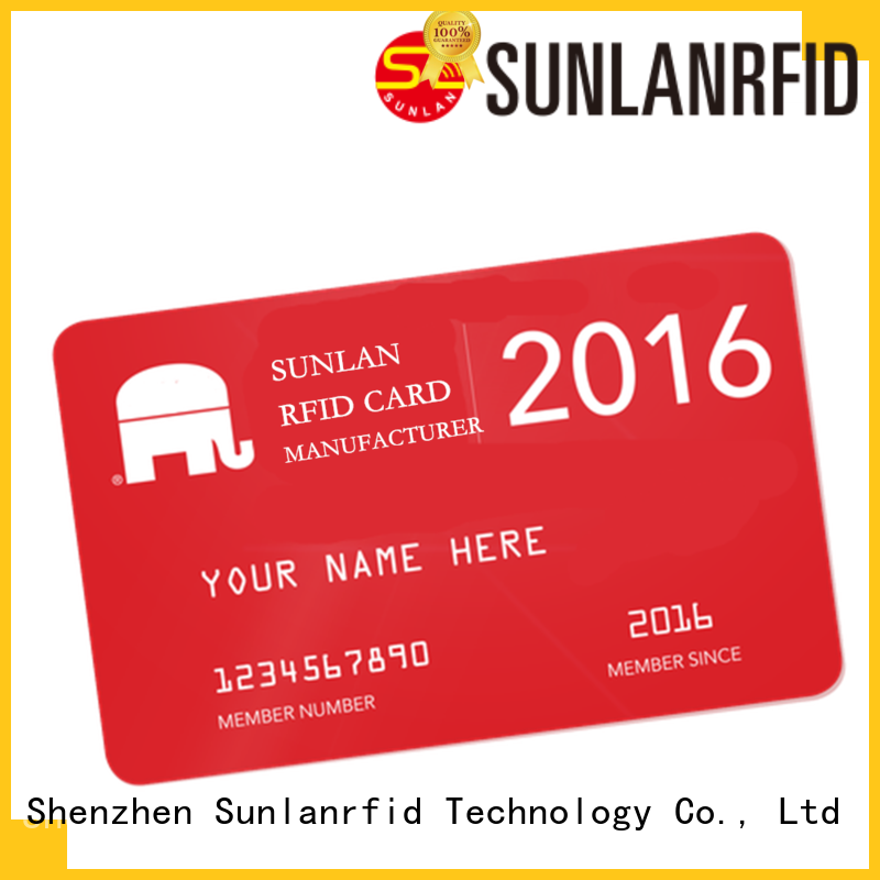 Sunlanrfid quality prepaid money cards price for time and attendance