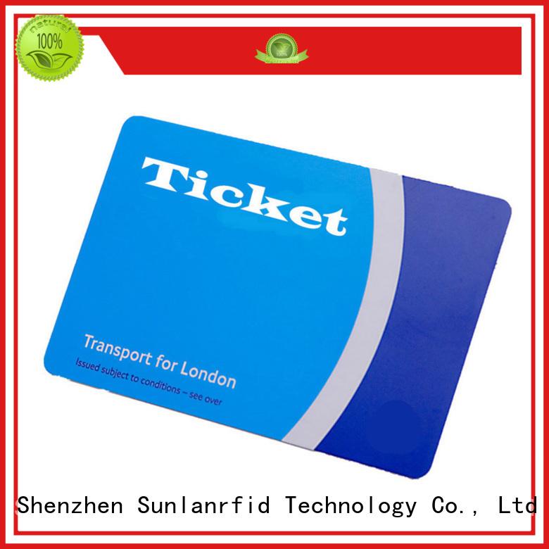 Sunlanrfid Brand card pvc railway smart card price pet