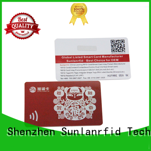 Sunlanrfid online rewards cards wholesale for time and attendance