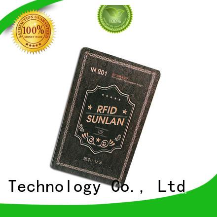 Sunlanrfid Brand aln9740 pvc car parking card higgs supplier