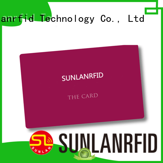 Sunlanrfid student id card format wholesale for time and attendance