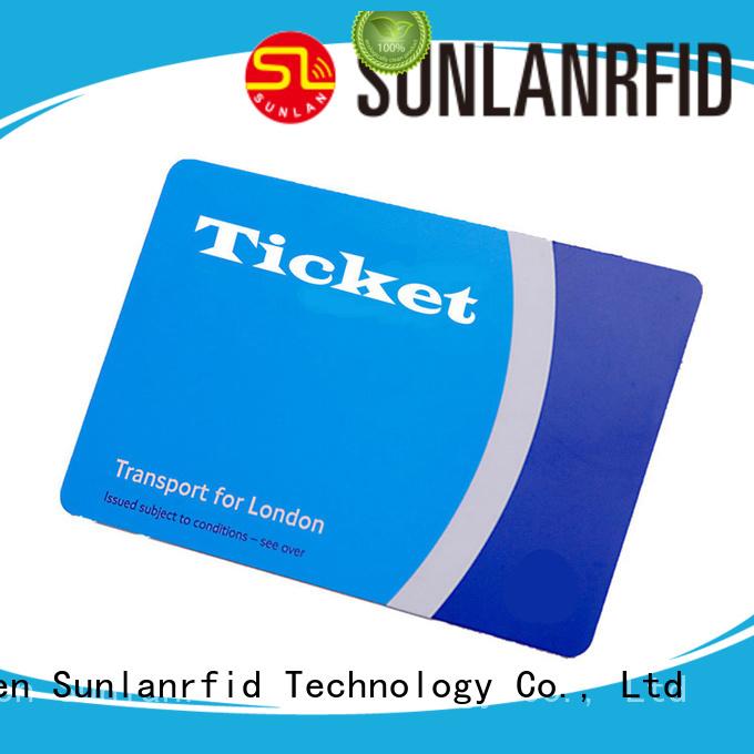 Sunlanrfid Custom child bus ticket manufacturer for shopping Center
