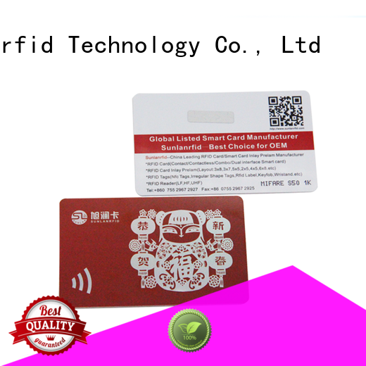 Sunlanrfid nano loyalty card manufacturer for shopping Center
