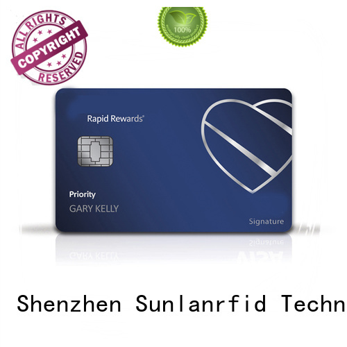 Sunlanrfid smart prepaid bank cards wholesale for time and attendance