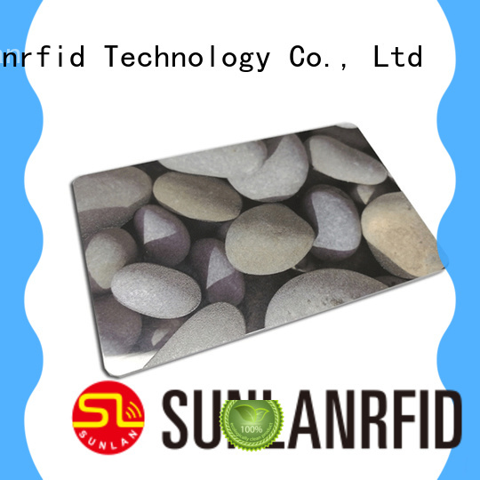 Sunlanrfid durable contactless smart card production for shopping Center