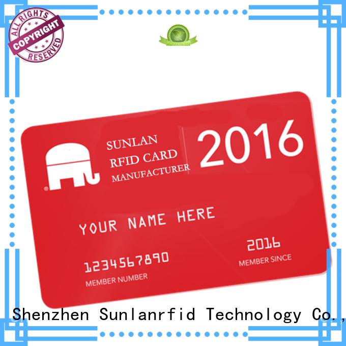 Sunlanrfid mifare prepaid card price for shopping Center