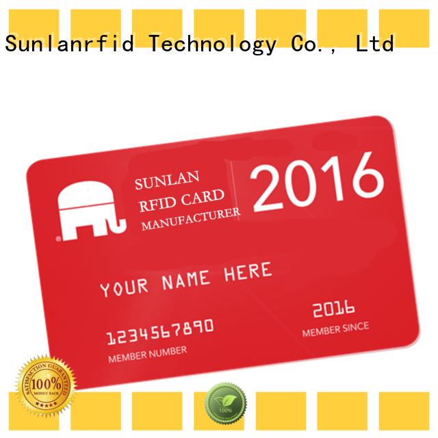 Sunlanrfid nano prepaid phone card wholesale for shopping Center