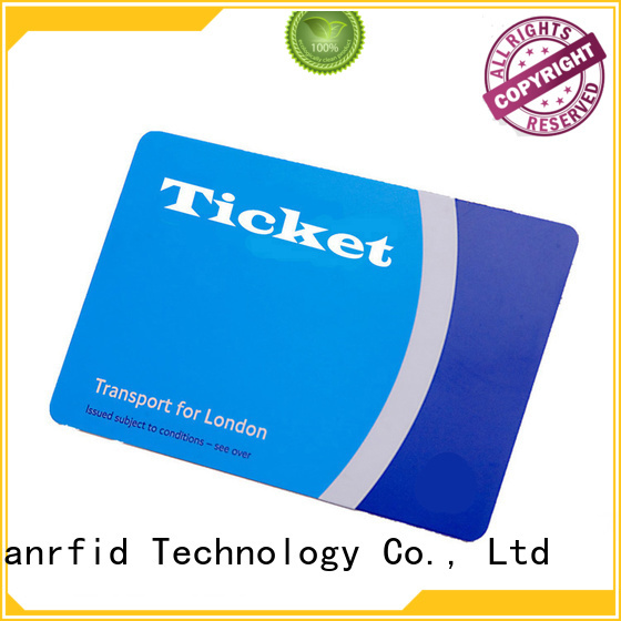 Sunlanrfid slil railway smart card production for time and attendance