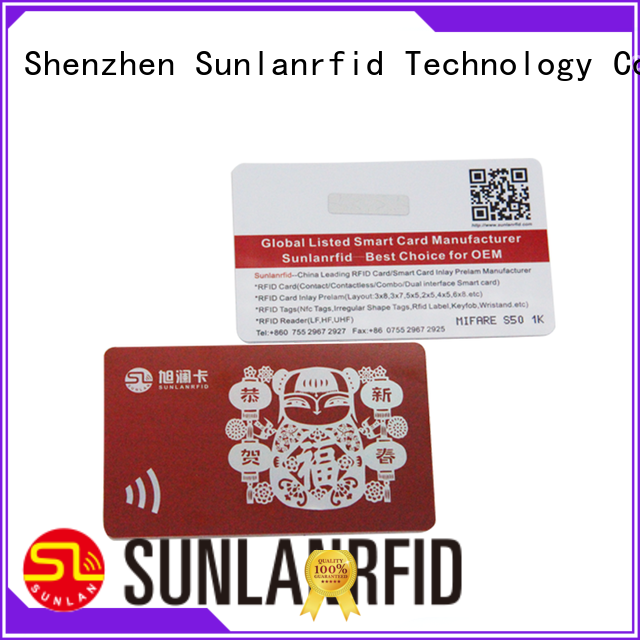 Sunlanrfid nano list of loyalty cards supplier for time and attendance
