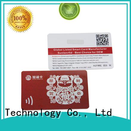 Sunlanrfid online best loyalty cards series for parking