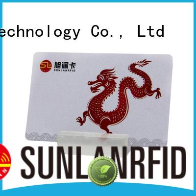 Sunlanrfid nano prepaid bank cards production for transportation
