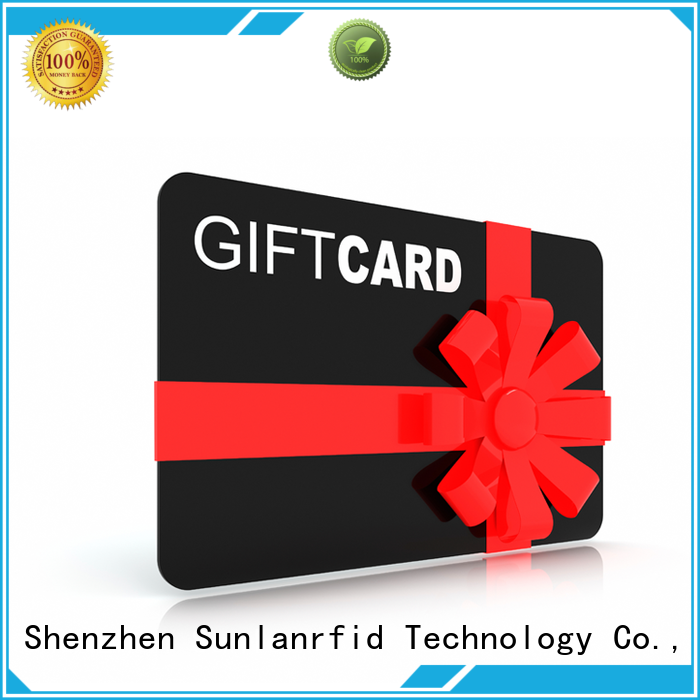 Sunlanrfid chip loyalty punch cards card industry