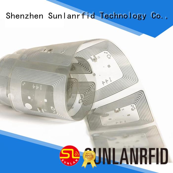 Sunlanrfid writer uhf dry inlay system for transparent