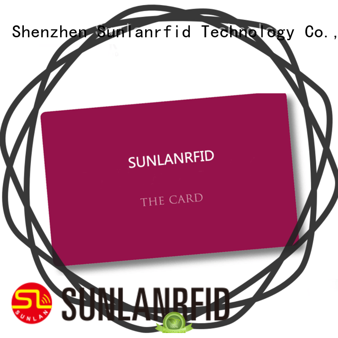 Sunlanrfid higgs park card production for time and attendance